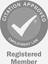Citation Approved, Employment Law. Registered Member.