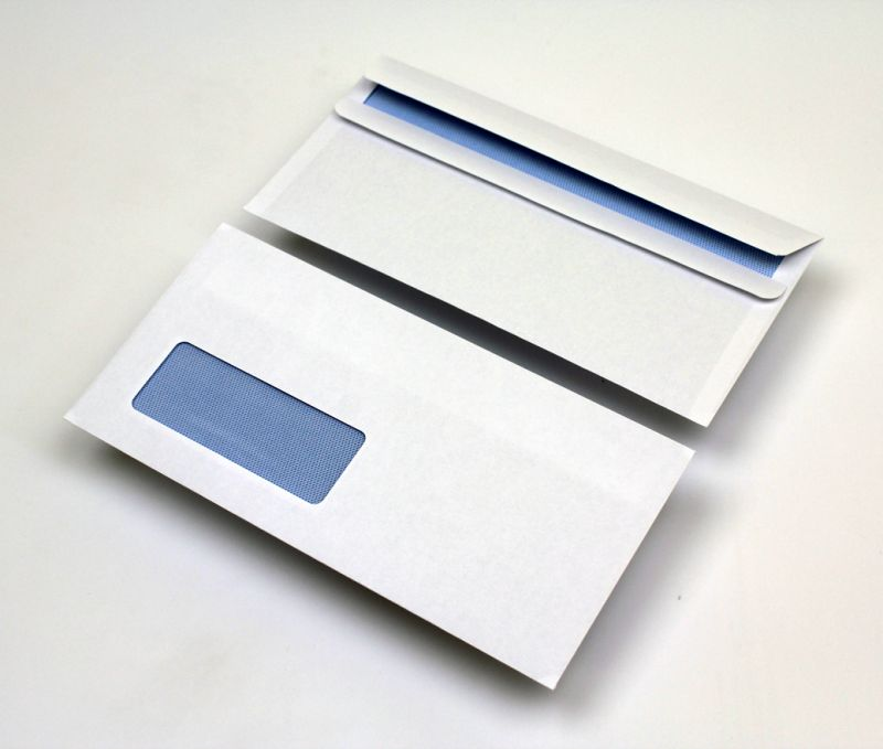 Dl window envelopes white self seal business envelope for Window envelopes